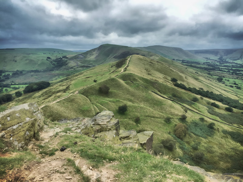 The Great Ridge, towards Mam Tor, from Back Tor