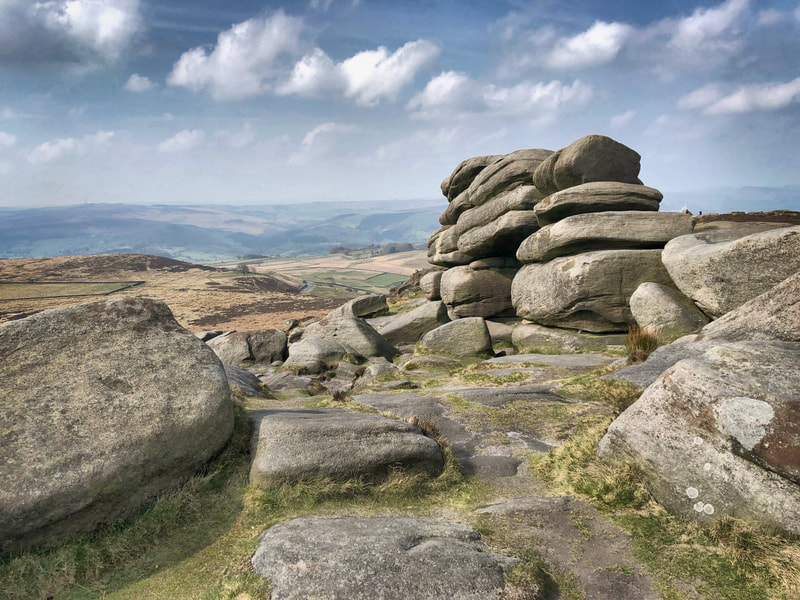 A beautiful day at Higger Tor in the Peak District
