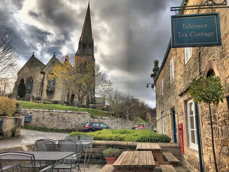 Edensor tea room and church at Chatsworth