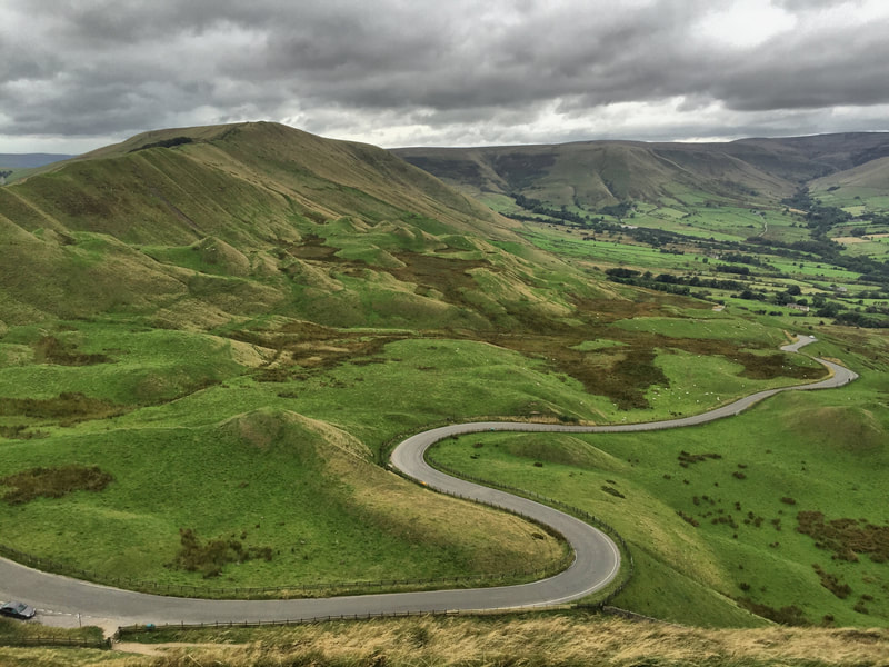 View of winding road from Mam Tor