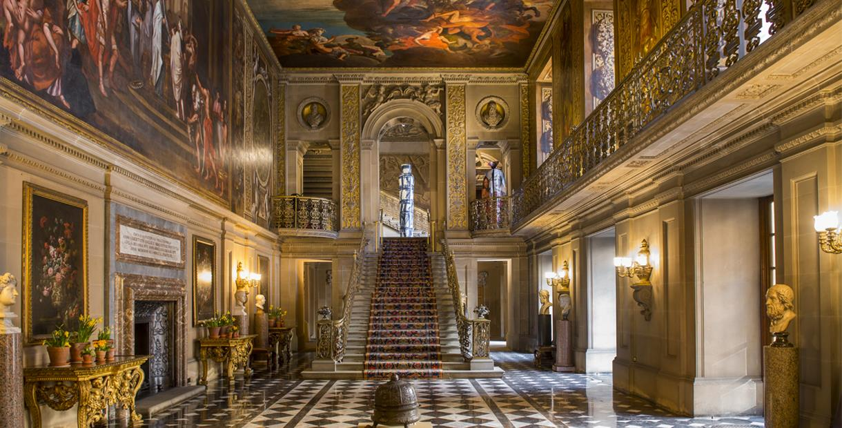 Interior of Chatsworth House on a Peak District Pride and Prejudice Tour