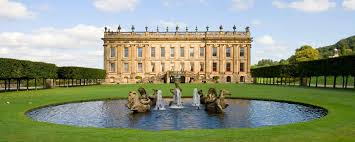 Chatsworth House and the fountain