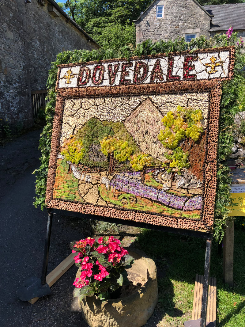 Traditional well dressing in the Peak District