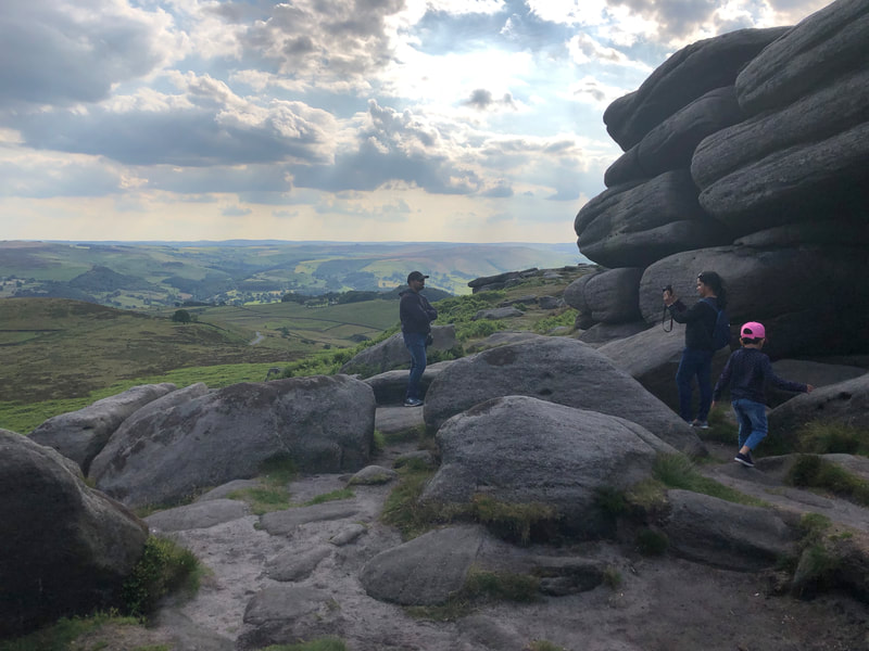 Exploring the gritstone boulders at Higger Tor