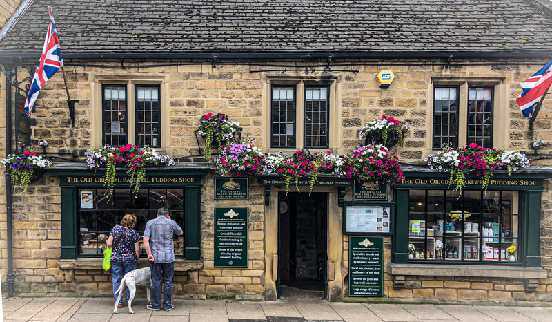 Historic Bakewell pudding shop in Bakewell, Derbyshire