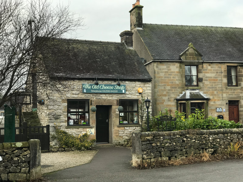 Historic old cheese shop at Hartington, favourite stop on our Peak District tour