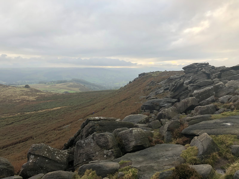 View across the Peak District from Higger Tor