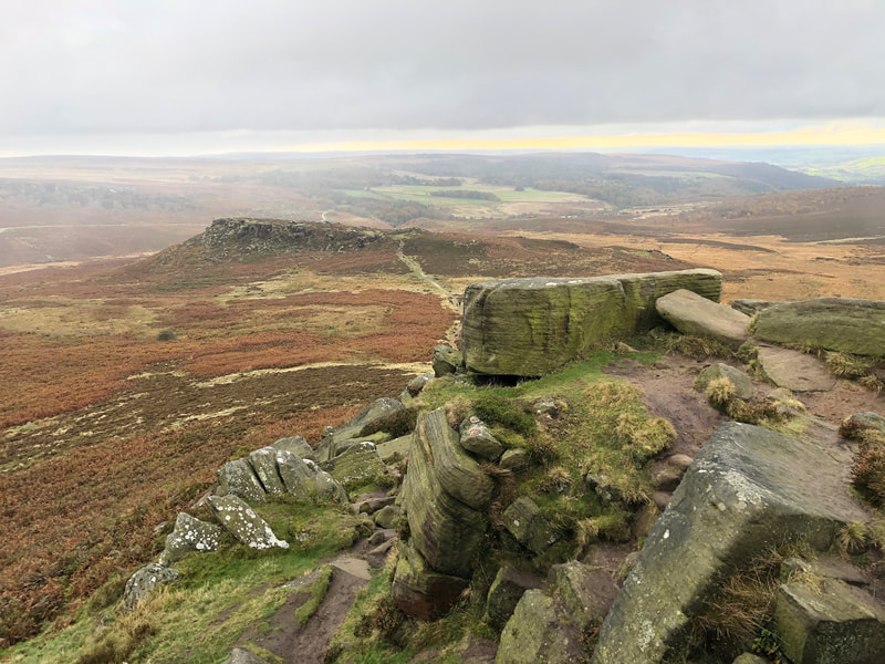 View of Carl Wark fort from Higger tor