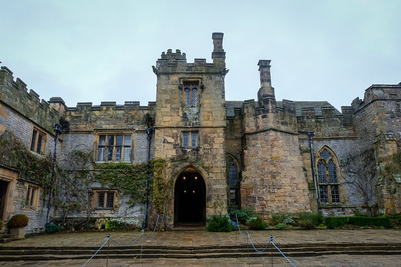 Haddon Hall, view from courtyard