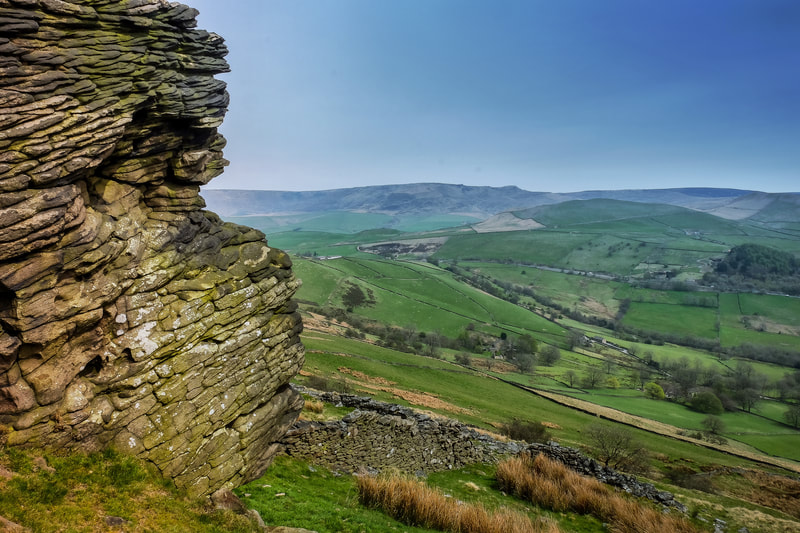 The big stone on Chinley Churn, Cracken Edge